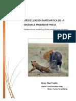 Modelizacion Matematica de La Dinamica Predador-presa