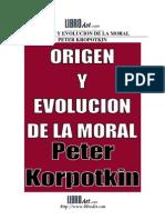 Origen y Evolucin de La Moral