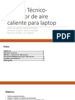 Estudio Técnico-Extractor de Aire Caliente Para Laptop