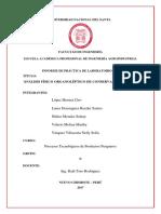 Imprimir Informe de Analisis Fisico Organoleptico de Conservas de Pescado