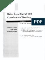 504 meeting artifact
