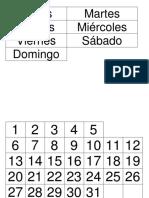 Calendario Orientacion Temporal