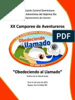 Instructivo Camporee de Aventureros ACD 2015