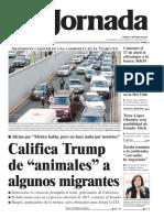 2018 05 17 Califica Trump de Animales a Algunos Migrantes