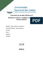 Laboratorio circuitos eléctricos II