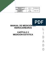 Norma API Medicion estatica de tanques capitulo 3