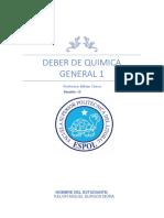 Deber de Quimica General. Ejemplos y Mas Ejemplos.