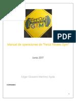 Manual de Operaciones Feroz Gym