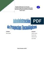 Administracion de Proyectos Tecnologicos