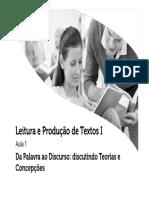 Leitura e Produão de Texto 1