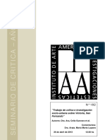 Trabajo de Crítica e Investigación Socio-urbana Sobre Victoria, San Fernando