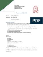 Propuestas Proyectos SDG 2018