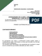 Cronograma y Guia Ovo (Psicología) 2017