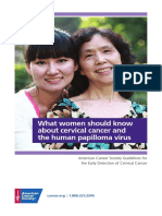 What Every Woman Should Know About Cervical Cancer and the Human Papilloma Virus Handout