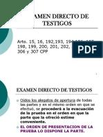 Examen Directo de Testigos Interrogatorio