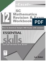 Year 12-Maths 2 Unit Resources - Excel Revision Exam Workbook