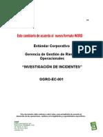 GGRO-EC-001 Investigación de Incidentes