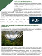 Conservación de Ecosistemas