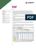 Cameron Scanner Data Manager Software Data Sheet