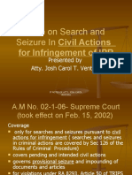 Rule on Search and Seizure in Civil Actions
