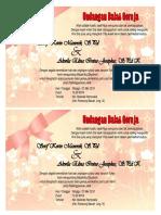 Contoh undangan pernikahan  kevin dan elyna
