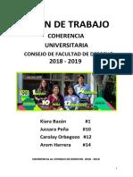 Coherencia Consejo Derecho 2018 - 2019