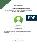 Jalova Report Biodiversity & Incidentals June-Dec 2017 Final English