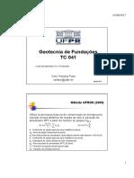 TC 041 Geotecnia de Fundações - Aula 5