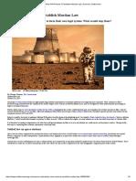 People in Mars