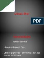 Litiasis Biliar Interna