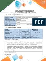 Guía de Actividades y Rúbrica de Evaluación - Fase 4 - Elaborar El Plan de Acción