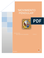Informe 3 Movimiento Pendular