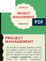 EMGT101 LEC8 Project Management