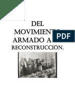 Del Movimiento Armado a La Reconstrucción
