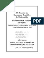 Introdução à Topologia Das Superfícies - UFV