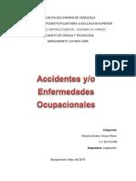 Yohanna. Accidentes o Enfermedades Ocupacionales. Legislacion