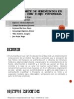 TRANSPORTE DE SEDIMENTOS EN CANALES CON FLUJO POTENCIAL.pptx