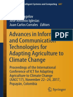 Advances in Information and Communication Technologies for Adapting Agriculture to Climate Change Proceedings of the International Conference of ICT for Adapting Agriculture to Climate Change