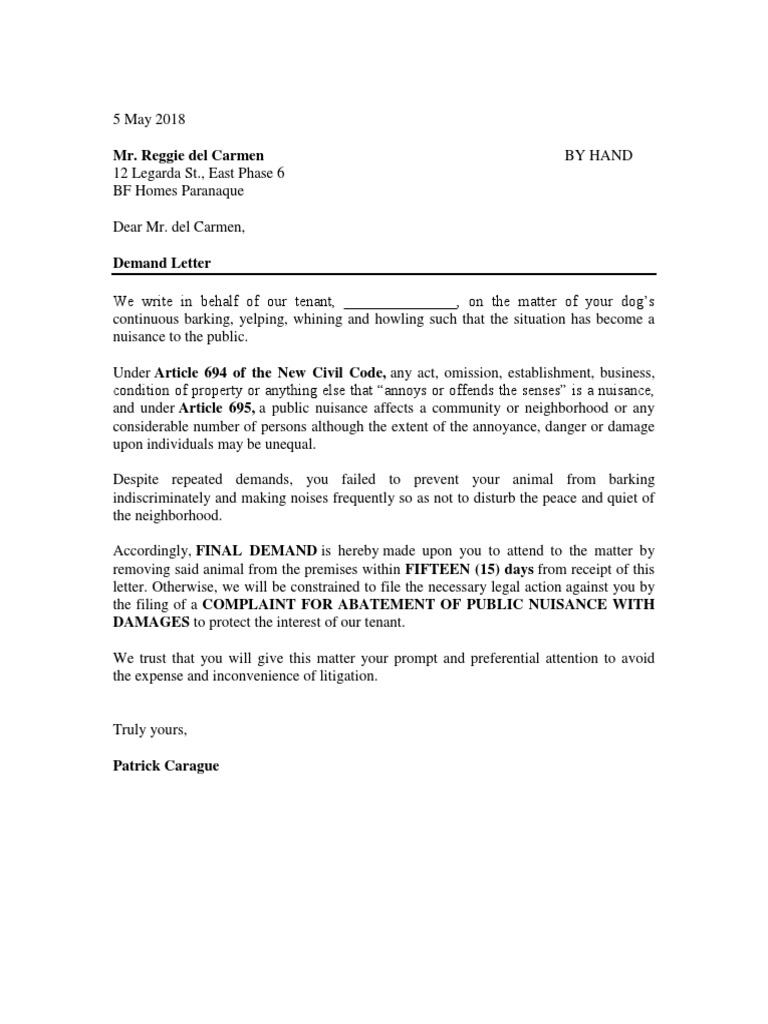 Demand Letter To Remove Property from imgv2-2-f.scribdassets.com