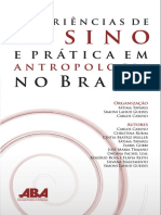 Experiências de Ensino e Prática Em Antropologia No Brasil