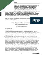 Speech to the Assoc of Los Alamon Sci