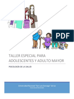 Taller Especial Para Adolescente y Adulto Mayor