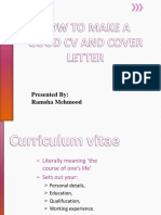 How to Make a Good Cv and Cover Letter