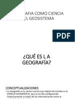 Geografia Como Ciencia Del Geosistema Ing