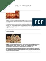 5 Corak Batik Nusantara