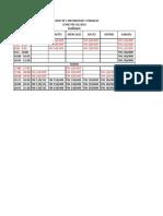 Horario de Contabildad y Finanzas