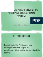 Historical Perspective of the Philippineeducational System