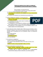 Banco de Preguntas Para Examen de Revalidación Derecho Civil