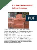 Jual Bata Merah Lamongan, 0813 – 5870 - 6022 (TLP/WA)