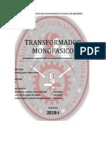 2°INFORME TRANSFORMADOR MONOFASICO